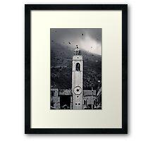 The Dark Bell Tower Framed Print
