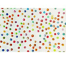 Colorful pattern made of many tiny mushrooms Photographic Print