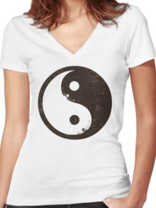 yin yang surfer 2 Women's Fitted V-Neck T-Shirt