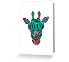 Psychedelic Giraffe - red variant Greeting Card