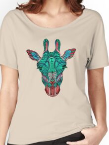 Psychedelic Giraffe - red variant Women's Relaxed Fit T-Shirt