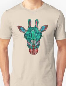 Psychedelic Giraffe - red variant Unisex T-Shirt