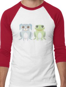 Lanky Dog & Frog Men's Baseball ¾ T-Shirt