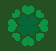 Love heart shamrocks by jazzydevil