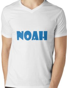 Noah (Blue) Mens V-Neck T-Shirt