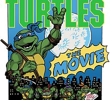 Ninja Turtles Retro First Movie 1990 Leonardo by Arseniy Dubakov
