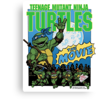 Ninja Turtles Retro First Movie 1990 Leonardo Canvas Print