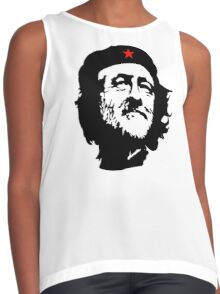 CORBYN, Comrade Corbyn, Leader, Politics, Labour Party, Black on White Contrast Tank