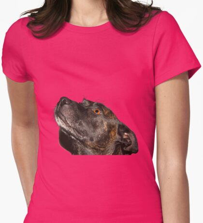 quartz staffie Womens Fitted T-Shirt