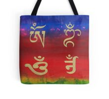 Om (Universal sound) in different languages Tote Bag