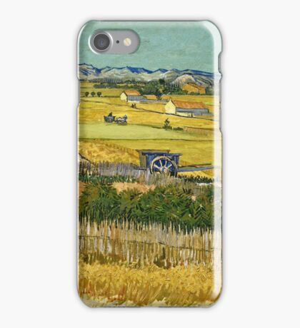 Vincent Van Gogh -  Harvest, June 1888 - 1888  iPhone Case/Skin