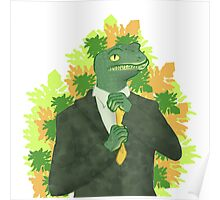 Business gecko Poster