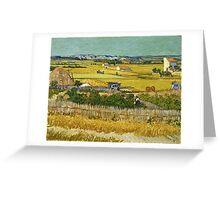 Vincent Van Gogh -  Harvest, June 1888 - 1888  Greeting Card