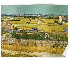 Vincent Van Gogh -  Harvest, June 1888 - 1888  Poster