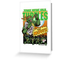 Ninja Turtles Retro First Movie 1990 Mikey Greeting Card