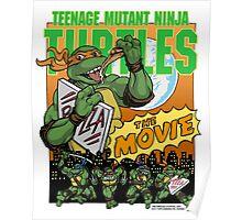 Ninja Turtles Retro First Movie 1990 Mikey Poster