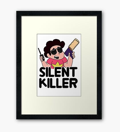 Steven Universe's T-shirt Cannon Framed Print