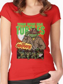 Ninja Turtles Retro First Movie 1990 Raphael Women's Fitted Scoop T-Shirt