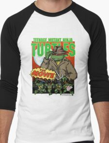 Ninja Turtles Retro First Movie 1990 Raphael Men's Baseball ¾ T-Shirt