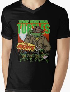 Ninja Turtles Retro First Movie 1990 Raphael Mens V-Neck T-Shirt
