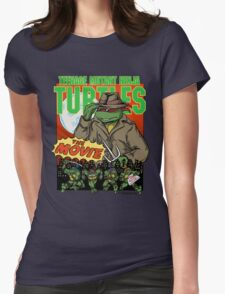 Ninja Turtles Retro First Movie 1990 Raphael Womens Fitted T-Shirt