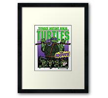 Ninja Turtles Retro First Movie 1990 Donatello Framed Print