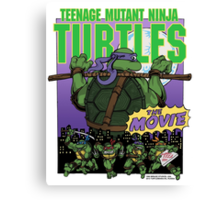 Ninja Turtles Retro First Movie 1990 Donatello Canvas Print