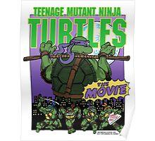 Ninja Turtles Retro First Movie 1990 Donatello Poster