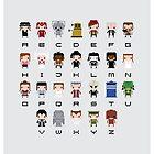 Doctor Who Alphabet by Sergei Vozika
