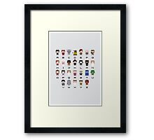 Doctor Who Alphabet Framed Print