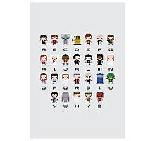Doctor Who Alphabet Photographic Print