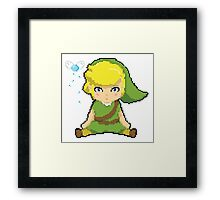 Link in pixel style Framed Print