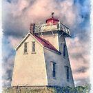 Lighthouse Watercolor by Edward Fielding