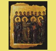 Twelve Disciples, Synaxis, Christianity, Twelve Apostles, Russian, 14th century, Moscow Museum. One Piece - Short Sleeve