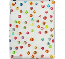 Colorful pattern made of many tiny mushrooms iPad Case/Skin