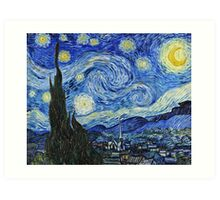 Vincent Van Gogh -  Starry Night 1889  Art Print
