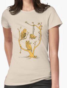 Clockwork Owls Womens Fitted T-Shirt