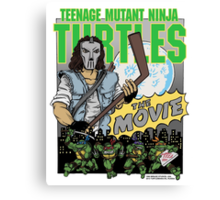 Ninja Turtles Retro First Movie 1990 Casey Jones Canvas Print