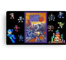 Mega Man 3 painting Canvas Print
