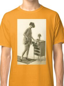 A 1920s Flapper Girl standing next to a set of drawers  Classic T-Shirt