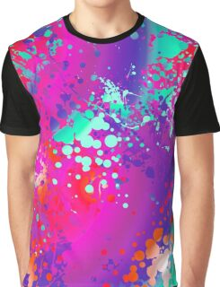 Vibrant Watercolor Splash Pink Graphic T-Shirt
