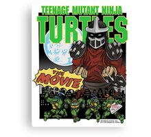 Ninja Turtles Retro First Movie 1990 Shredder Canvas Print