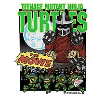 Ninja Turtles Retro First Movie 1990 Shredder Photographic Print
