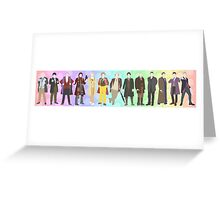 All 13 Doctor Who's in the flat colour style - Poster Greeting Card