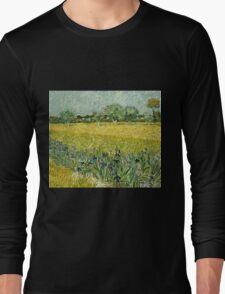 Vincent Van Gogh - Field With Flowers Near Arles, 1888  Long Sleeve T-Shirt