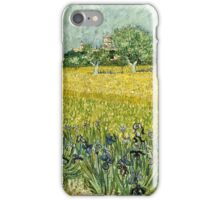 Vincent Van Gogh - Field With Flowers Near Arles, 1888  iPhone Case/Skin