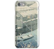 Kawase Hasui - Ochanomizu In Snow (Ochanomizu) iPhone Case/Skin