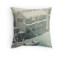 Kawase Hasui - Ochanomizu In Snow (Ochanomizu) Throw Pillow