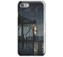 Kawase Hasui - Night Rain On Shin-O-Hashi iPhone Case/Skin