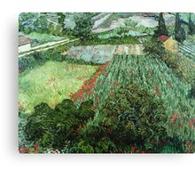 Vincent Van Gogh - Field With Poppies Canvas Print